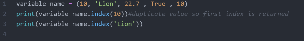 how to use tuple in python