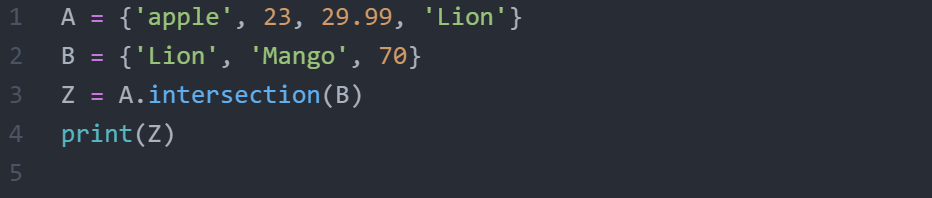 What is set in python?