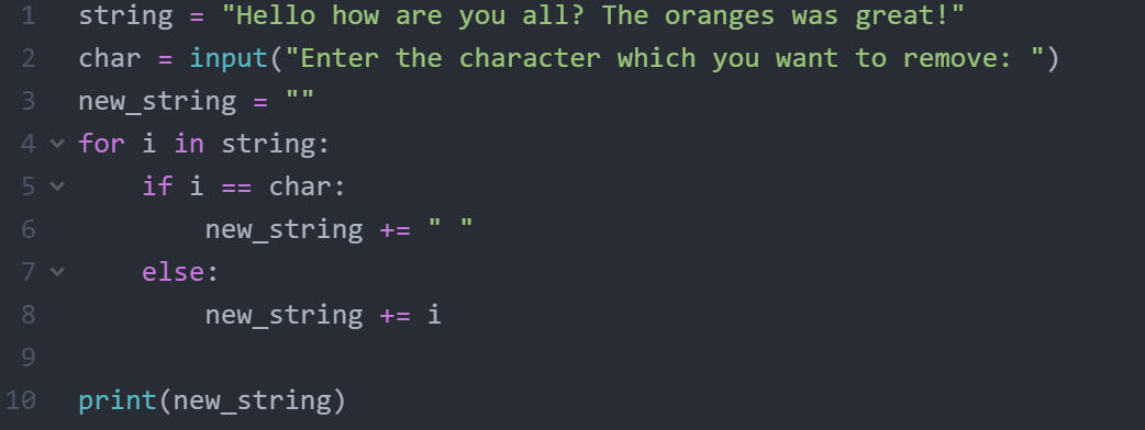 How to remove character from string in python