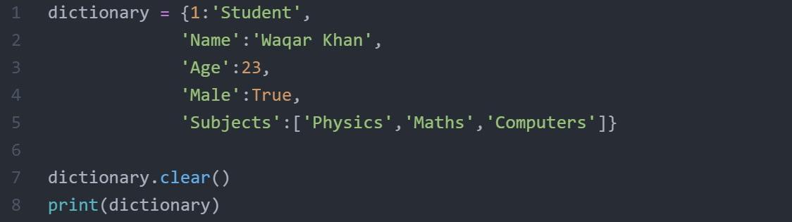 Clear()_method_dictionary_python_code