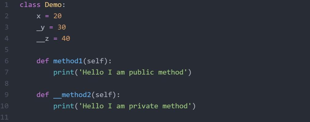 Method encapsulation