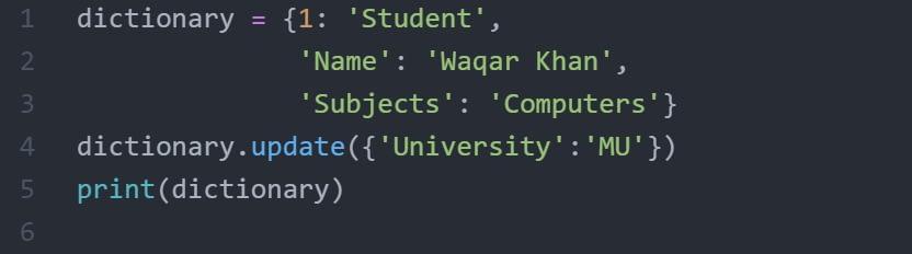 Update()_method_list_dictionary_code