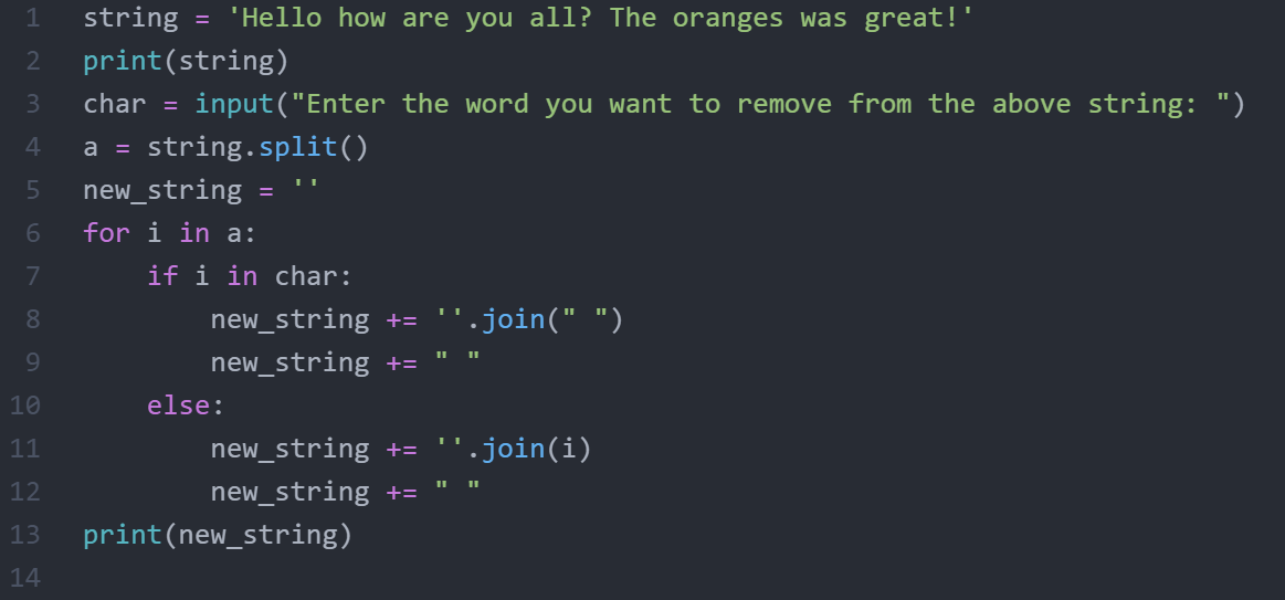 How to remove word from string in python