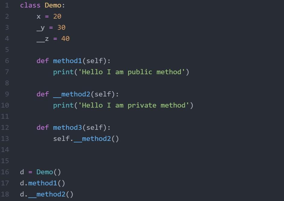 Python Encapsulation