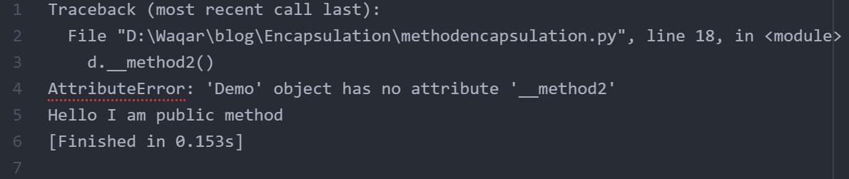 Method_encapsulation_output