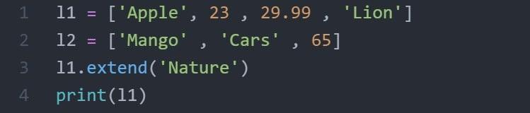 extend code