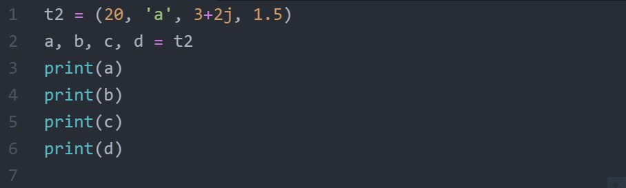 what is tuple unpacking