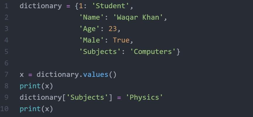 python_dictionary_values
