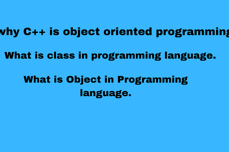 why-C++-is-object-oriented-programming-language