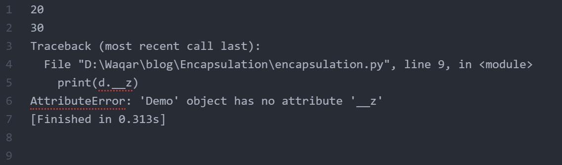 Encapsulation_Output_Python
