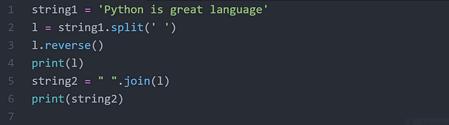 Reverse words in a given String in Python