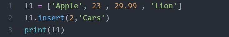 insert code
